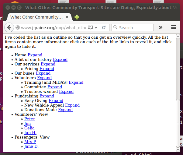 Screenshot of 'What Others are Doing' page with all topics collapsed